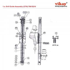 Drill Guide Assly. (DTH) 70615216 LM 100 Parts