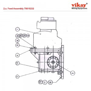 Feed Assembly 70615232 LM 100 Parts